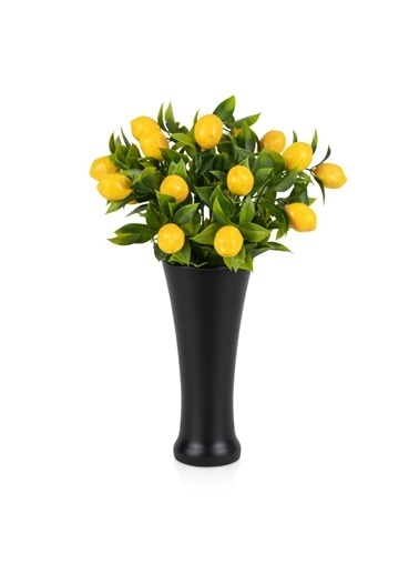 Çiçekmisin Fransız Style Vazoda Limon Demet Yapay Bitki Renkli